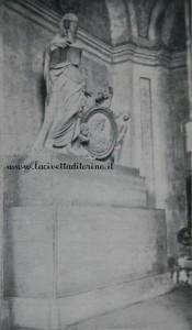 Il monumento nel Cimitero di San Pietro in Vincoli
