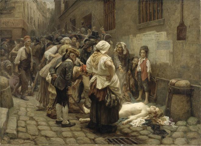 """Léon-Maxime Faivre, """"Mort de la princesse de Lamballe"""", 1908"""