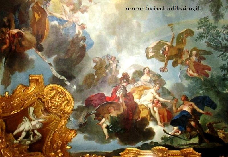 Caludio Francesco Beaumont, particolare della volta del Gabinetto Cinese, Palazzo Reale Torino