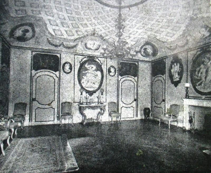 Uno degli interni del Capriglio all'inizio degli anni '60