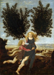 Antonio del Pollaiolo, Apollo e Dafne, 1470-80, National Gallery Londra
