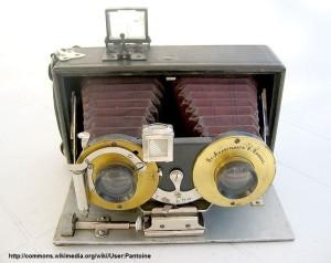 Fotocamera stereoscopica, inizi 1900