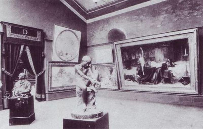 La sala della Biennale con il dipinto di Grosso. Immagine tratta dal sito: biennaleveneziamap2013.wikispaces.com