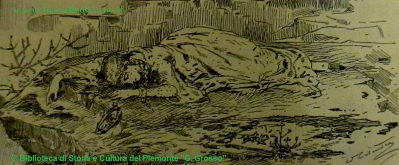 La bell'Alda illesa dopo il primo salto. Illustrazione di Edoardo Calandra, 1884.