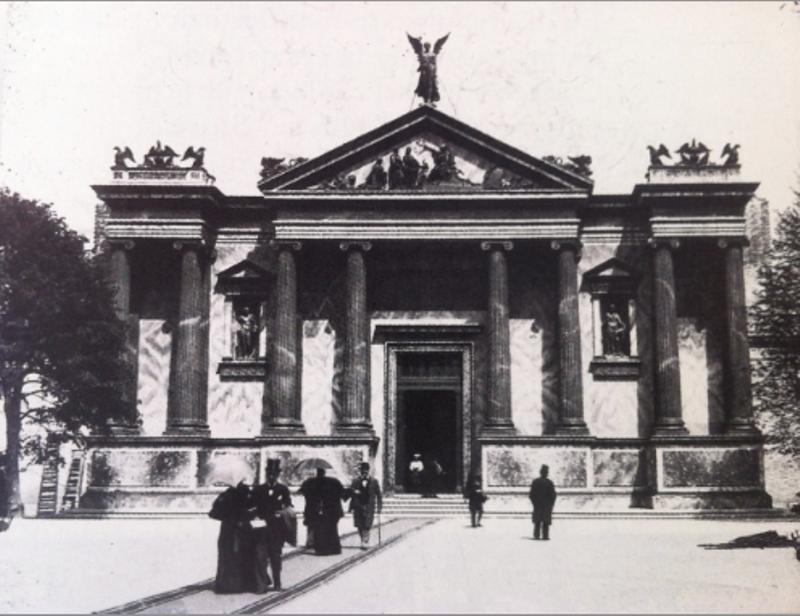 Il palazzo della prima Esposizione Internazionale d'Arte di Venezia. Immagine tratta dal sito: biennaleveneziamap2013.wikispaces.com
