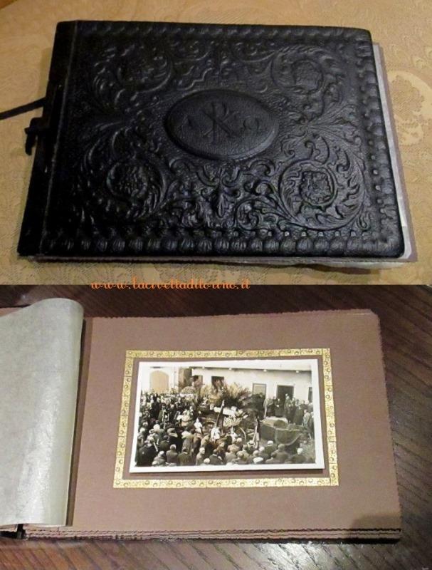 Album con servizio fotografico per funerale del marzo 1937.