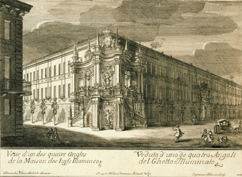 Veduta del Ghetto nel 1737. Photo © Archivio Storico della Città di Torino
