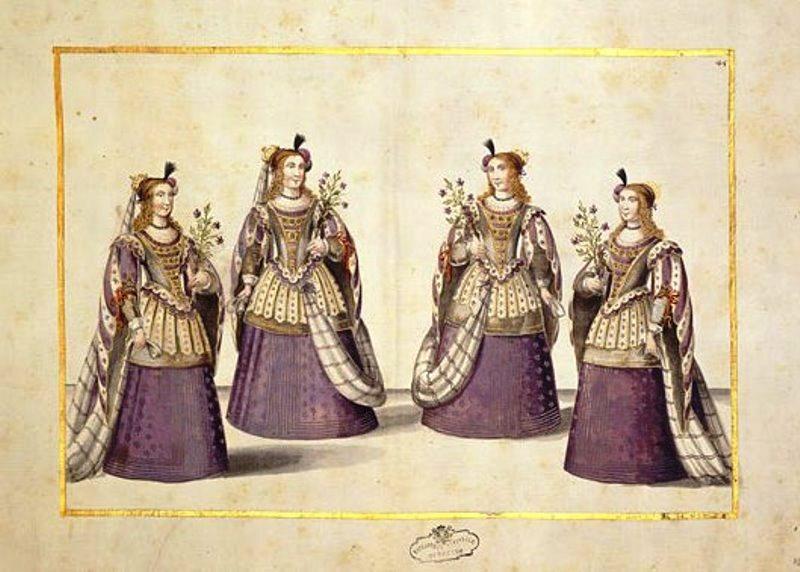"""""""Il Gridelino"""", balletto composto da Filippo d'Aglié per la Madama Reale nel 1653. Conservato alla Biblioteca Nazionale di Torino. Photo by www.arttattler.com"""