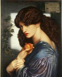 "D.G.Rossetti, ""Proserpina"", 1874, Tate Gallery Londra"
