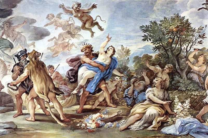 """Luca Giordano, """"Il ratto di Proserpina"""", 1684-1686, Palazzo Medici Riccardi Firenze"""