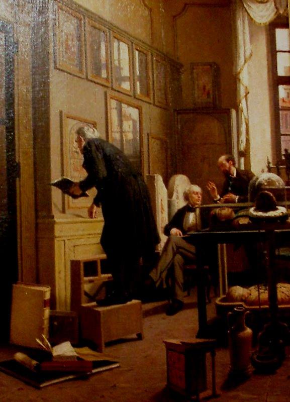 """Lorenzo Delleani, """"Il Museo Egizio di Torino"""", 1871. Photo by: www.paginadellarte.it"""