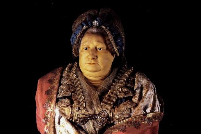 Il busto in cera di Vittoria, opera di Francesco Orso, 1780-1785 circa, conservtao al Castello di Aglié. Photo by: www.storiedell'arte.com