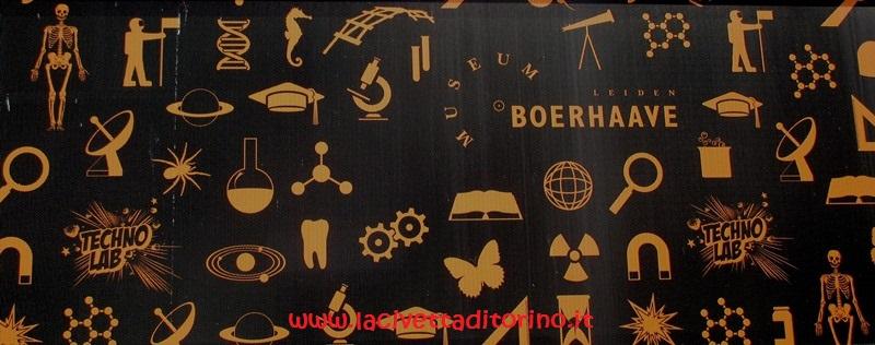 Particolare dell'ingresso al Museum Boerhaave