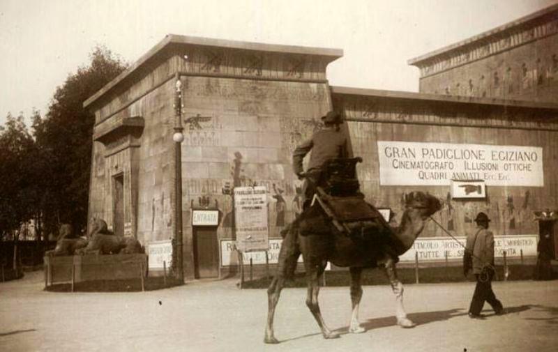 Il Padiglione Egiziano all'Esposizione di Torino del 1898. Photo by Mario Gabinio, Archivio Fotografico Fondazione Torino Musei. Dal sito: www.repubblica.it