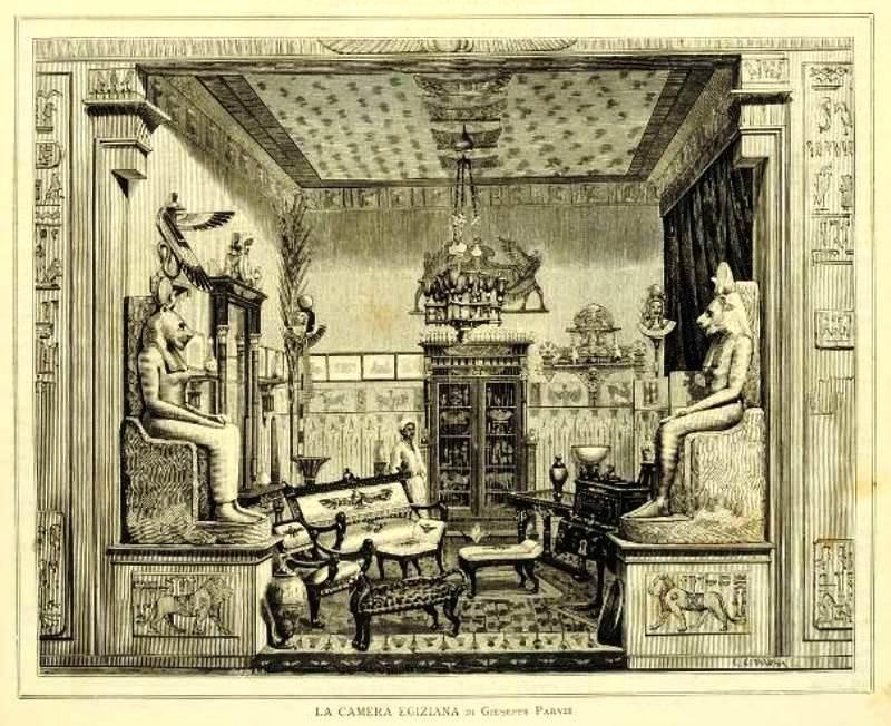 La Sala Egizia di Giuseppe Parvis all'Esposizione di Torino del 1884