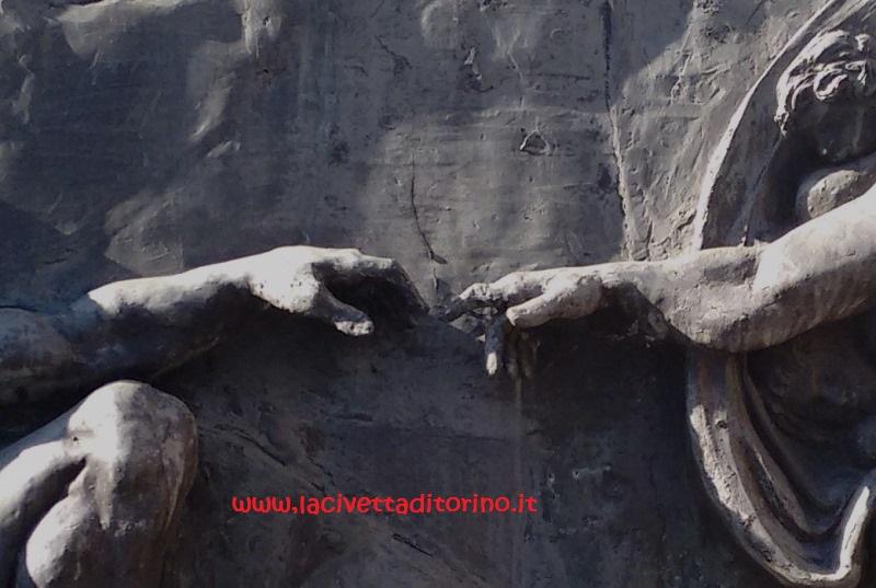 Particolare della Crezione di Adamo nel Monumentale di Torino