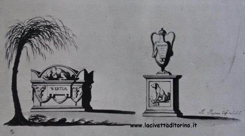 Progetti di Giovanni Pregliasco per il monumento a Weter. Dal libro: Noemi Gabrielli (a cura di), Racconigi, Istituto Bancario San Paolo 1972