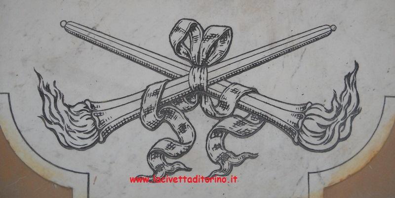 Fiaccola rovesciata, particolare dal Monumentale di Torino