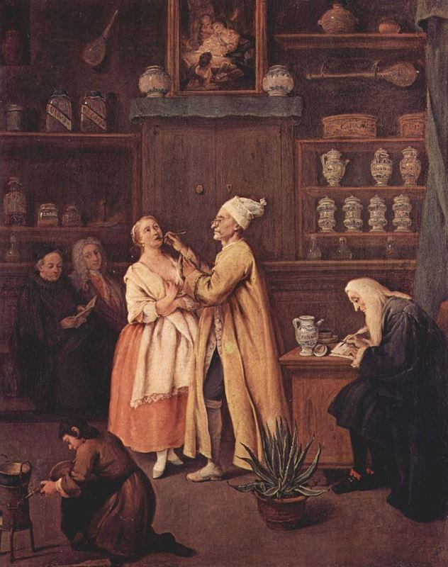 Pietro Longhi, Il Farmacista, 1752, Cà Rezzonico Venezia